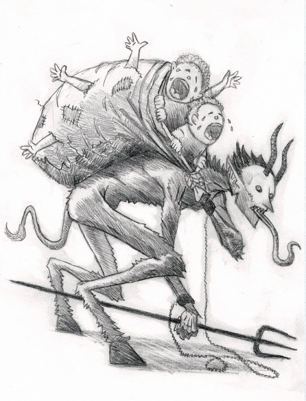 Krampus Drawing
